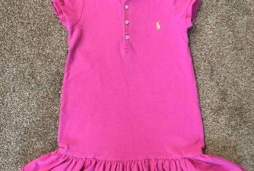 Ralph Lauren pink short sleeve dress 6T
