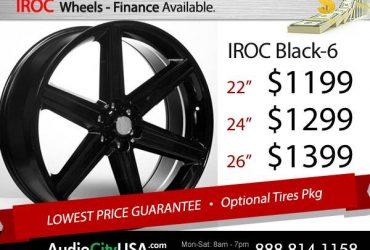 ★ 20 22 24 26 Iroc Chrome BM Black wheels rims – $999 (No Credit Needed EZ Financing)
