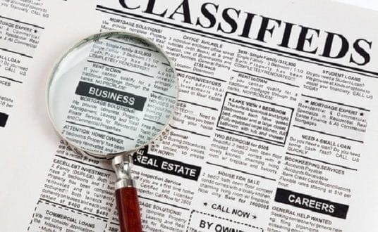 Use Online Classified Ads Rather Than Local Newspapers