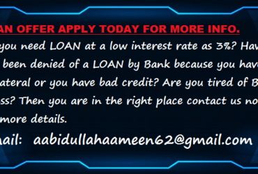 Possible LOAN offer contact us now