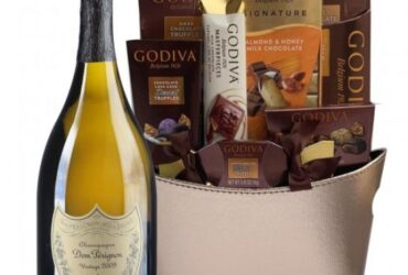 Only For The Best Dom Perignon Champagne Gift Basket
