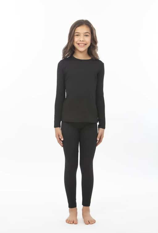 Girl's Crew Neck Thermal Underwear Set – Bodtek