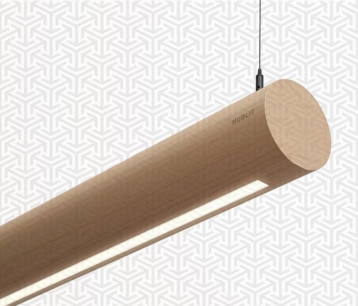 Wooden Linear Pendant LED Lamp for Home-Office
