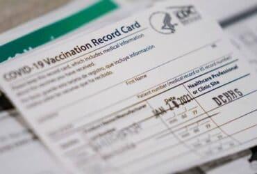 COVID-19 record vaccination card