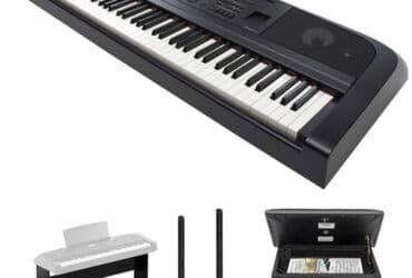 Yamaha DGX-670 Portable Digital Grand Piano Bundle with Stand, Pedals, and Bench (Black)