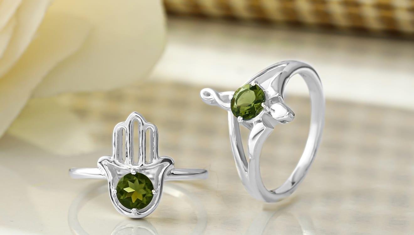 Green Stone Moldavite Jewelry at Wholesale Price